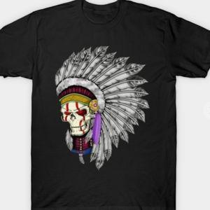 NWOT 3 From Hell Inspired Skull Headdress Tshirt